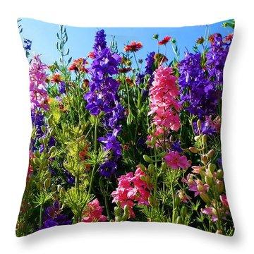 Wildflowers #14 Throw Pillow