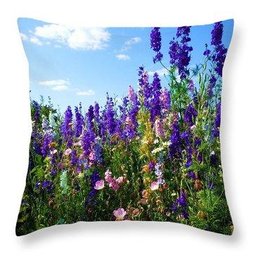 Wildflowers #9 Throw Pillow