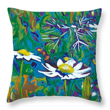 Wildflowers Throw Pillow by Denise Deiloh