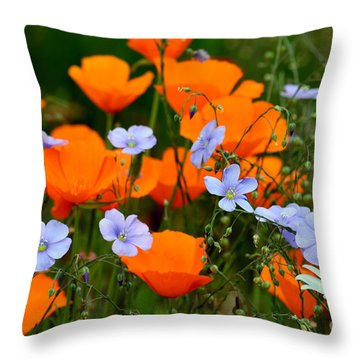 Throw Pillow featuring the photograph Gabriella's Flowers by Lisa L Silva