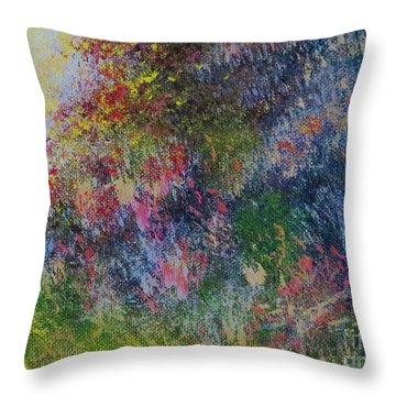 Wildflowers Throw Pillow by Tim Townsend