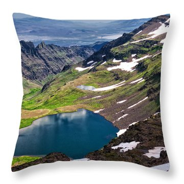 Wildhorse Lake Throw Pillow