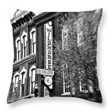 Wildhorse Saloon Throw Pillow by Scott Pellegrin