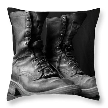 Wildland Fire Boots Still Life Throw Pillow