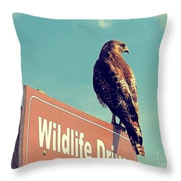 Wildlife Drive Greeter Throw Pillow