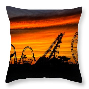 Wildwood At Dawn Throw Pillow by Mark Miller