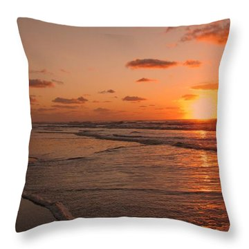 Wildwood Beach Sunrise II Throw Pillow by David Dehner