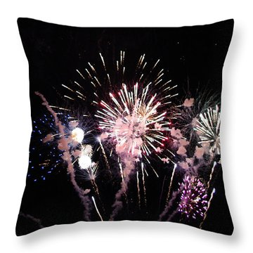 Throw Pillow featuring the photograph Wildwood Fireworks by Greg Graham