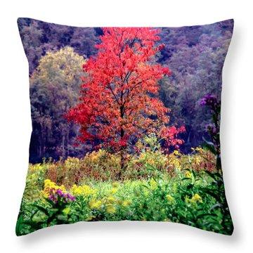 Wildwood Flowers Throw Pillow