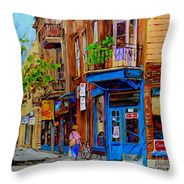 Wilensky's Diner And Snack Bar Throw Pillow by Carole Spandau
