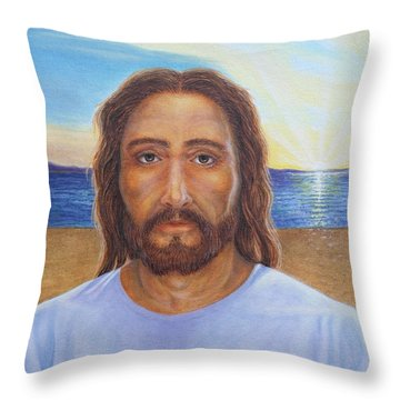 Will You Follow Me - Jesus Throw Pillow by Michele Myers