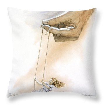 Will You Trust Me Blonde Throw Pillow