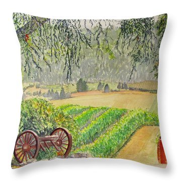 Willamette Valley Winery Throw Pillow by Carol Flagg