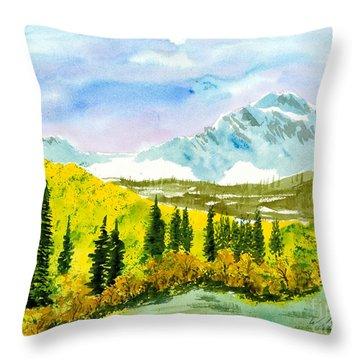 Willard Peak Throw Pillow