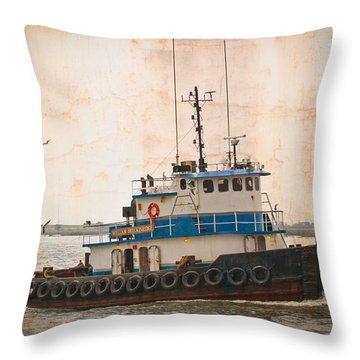 William Breckinridge Throw Pillow by Debra and Dave Vanderlaan