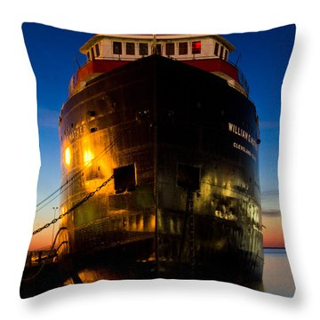 William G. Mather Maritime Museum Cleveland Ohio Throw Pillow by John McGraw