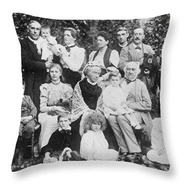 William Gladstone With Family Throw Pillow