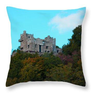 William Guillette Castle Throw Pillow