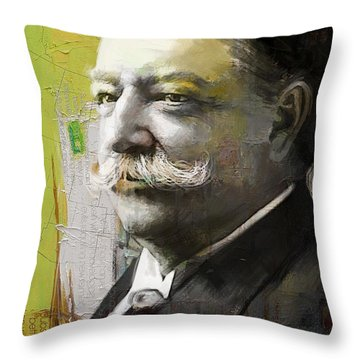 William Howard Taft Throw Pillow by Corporate Art Task Force