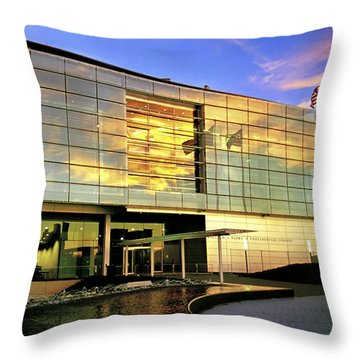 William Jefferson Clinton Presidential Library Throw Pillow by Jason Politte