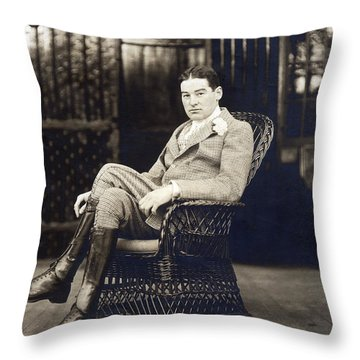 William K. Vanderbilt Throw Pillow by Underwood Archives