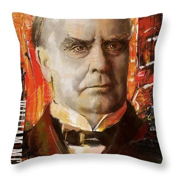 William Mckinley Throw Pillow by Corporate Art Task Force