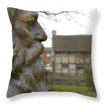 William Shakespeare Home Throw Pillow by Mike McGlothlen