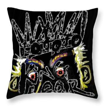 William Shakespeare's King Lear Poster Throw Pillow