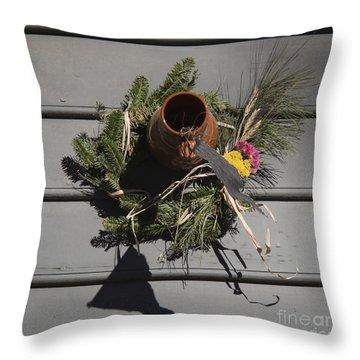 Williamsburg Bird Bottle 2 Throw Pillow by Teresa Mucha