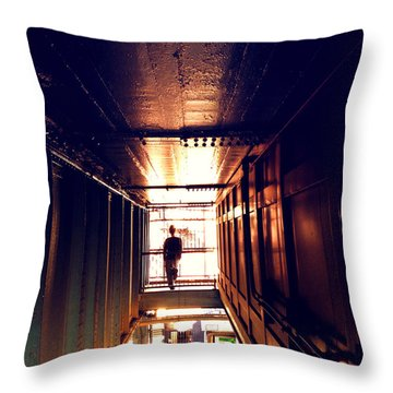 Williamsburg - Brooklyn - Hewes Street Overpass Throw Pillow by Vivienne Gucwa