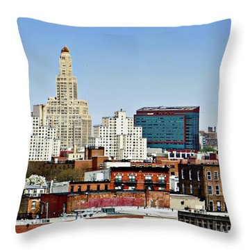 Williamsburg Savings Bank In Downtown Brooklyn Ny Throw Pillow