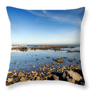 Williamstown Beach Throw Pillow by Yew Kwang