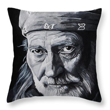 Willie  Throw Pillow by Brian Broadway
