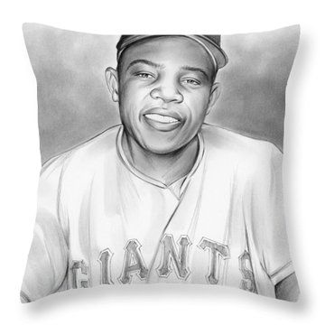 Willie Mays Throw Pillow