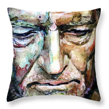 Willie Nelson  Portrait Throw Pillow by Laur Iduc