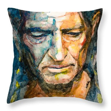 Willie Nelson  Throw Pillow by Laur Iduc