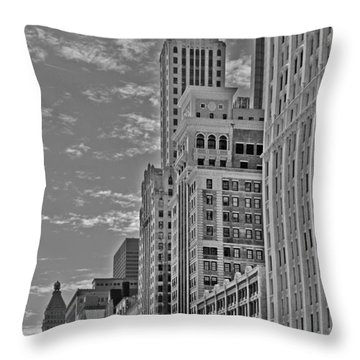 Willoughby Tower And 6 N Michigan Avenue Chicago  Throw Pillow by Christine Till