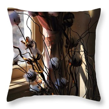 Willow And Cotton Throw Pillow by Kathryn Meyer