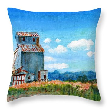 Willow Creek Grain Elevator II Throw Pillow
