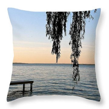 Willow On The Water Throw Pillow
