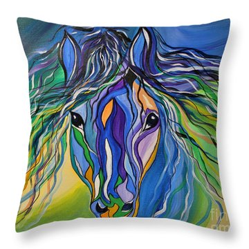 Willow The War Horse Throw Pillow