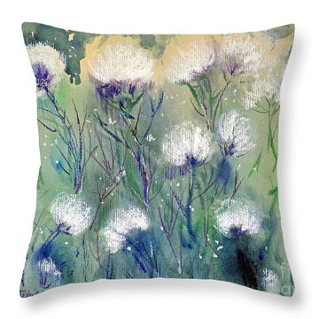 Willowy Whites Throw Pillow