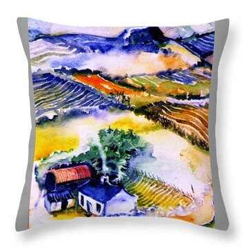 Throw Pillow featuring the painting Wills House On Eagle Hill  by Trudi Doyle