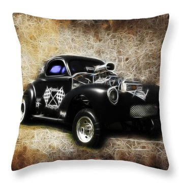 Willys Coupe Throw Pillow