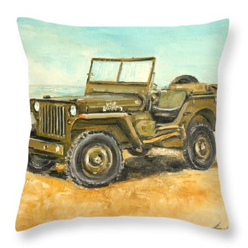 Willys Jeep Throw Pillow
