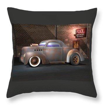 Willys Street Rod Throw Pillow