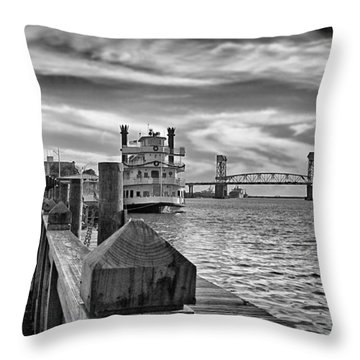 Throw Pillow featuring the photograph Wilmington Riverfront by Phil Mancuso