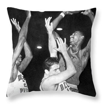 Wilt Chamberlain Shoots Throw Pillow