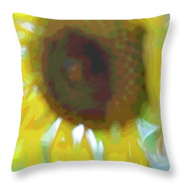 'wilted' Abstract Throw Pillow