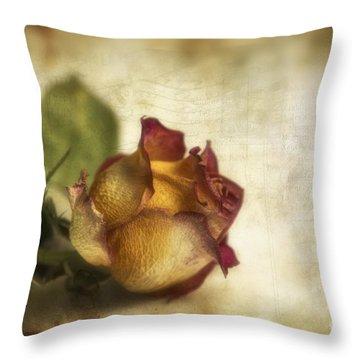 Wilted Rose Throw Pillow by Veikko Suikkanen
